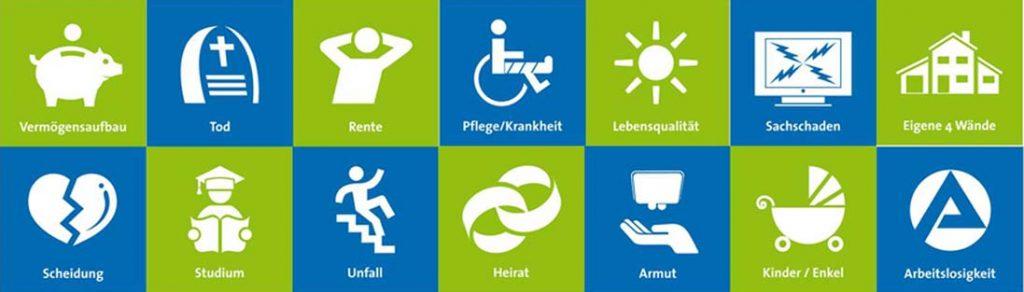 Lebenswürfel-Symbole