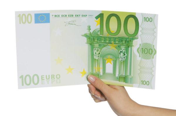 Geldschein 100 Hand