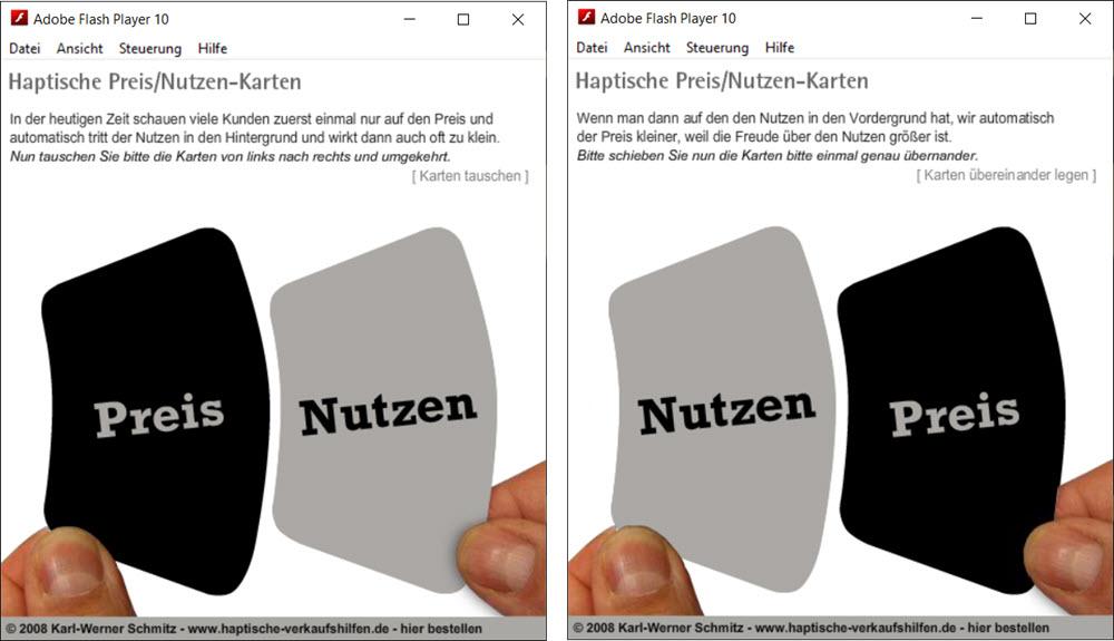 Preis-Nutzen-Karten