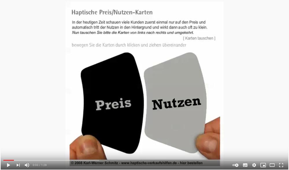 Preis/Nutzen-Karten